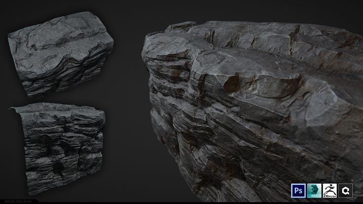 ArtStation - Tileable Cliff rock, Adrian Barcenas