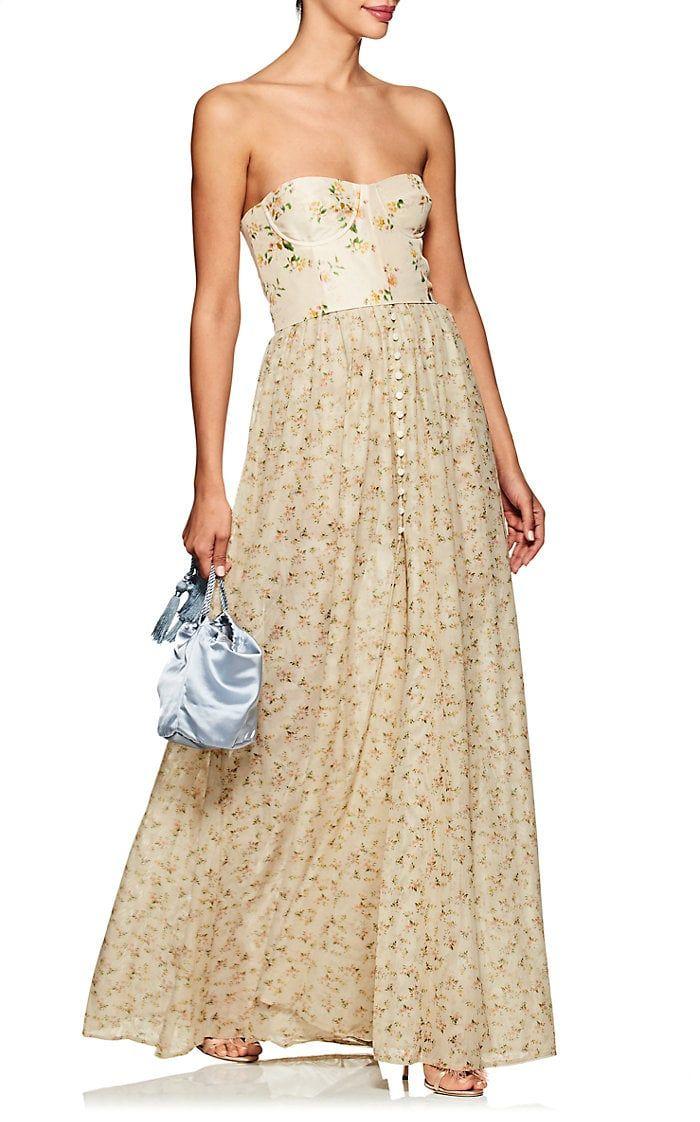 Brock Collection Dallas Taffeta & Tulle Maxi Dress | Barneys New York