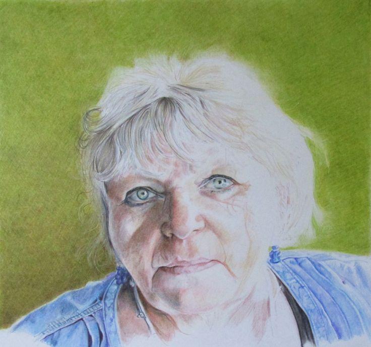 colour pencil portrait of my mum