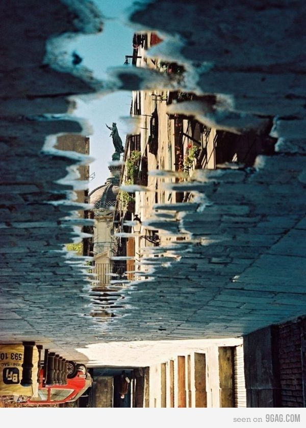 Best Building Reflections In Puddles Images On Pinterest - Photographer captures the amazing reflections of puddles in new yorks streets