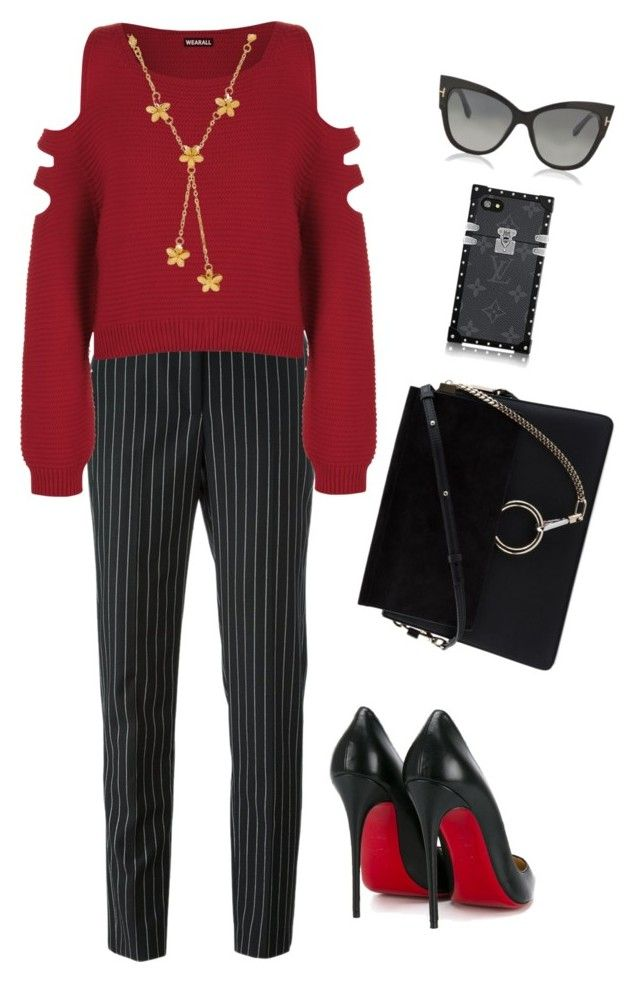 """Untitled #2358"" by n2288851 ❤ liked on Polyvore featuring Givenchy, WearAll, Christian Louboutin, Lord & Taylor, Chloé and Tom Ford"
