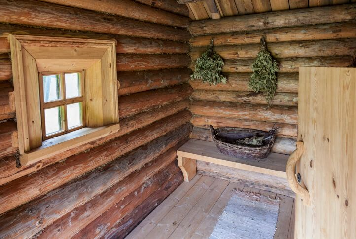 Old school sauna - similar to one you'd find in the countryside in Finland