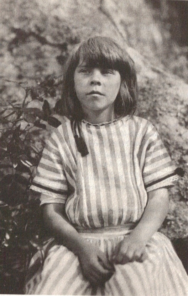 Author, artist, cartoonist and honorary professor of philosophy, Tove Jansson as a little girl.