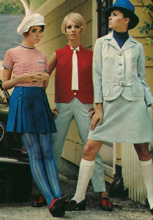 """The Mod Fashion (or the Modernist Fashion) was one of the first reigning style tribes of Britain in the 1960's. The style, popular among young people, embodied """"elegance, long hair, granny glasses, and Edwardian finery"""" (McCloskey 1970). Mod made use of vividly-colored and well-tailored garments."""