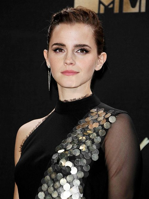 Emma Watson attends the 2017 MTV Movie and TV Awards held at the Shrine Auditorium on Sunday (May 7, 2017) in Los Angeles, California.