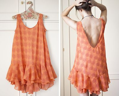 Mi primera máquina de coser: AV14: Vestido naranja
