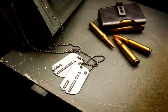 Wolverine Dog Tags  Notched US Tags from Korean by DarkMatterProps