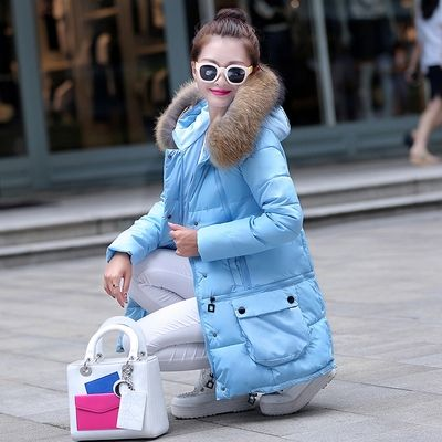 41.23$  Watch now - http://alim3d.worldwells.pw/go.php?t=32582848301 - 2015 New Europe Cape Fashion Causal Medium Long Hooded Collar Duck Down Jacket Plus Size Winter Jacket Women Parka Jackets H4595 41.23$