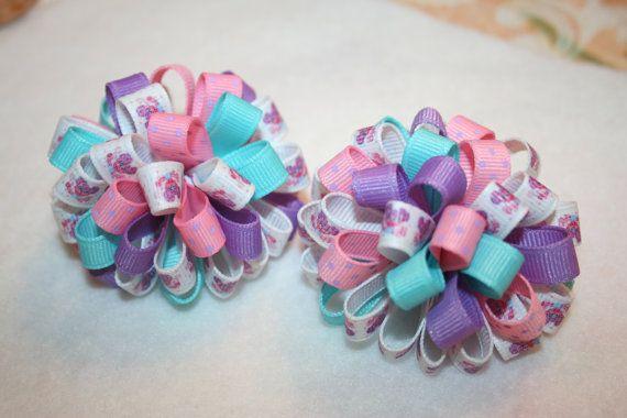 Abby Cadabby loopy puff hair bows