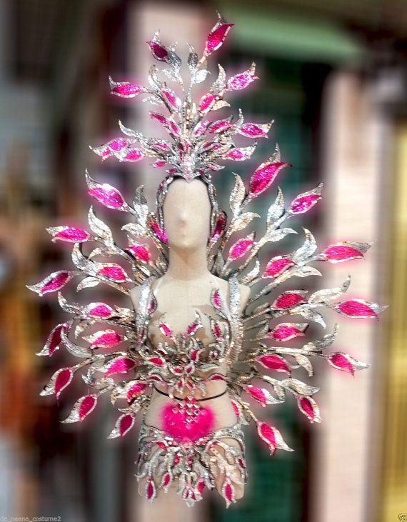 Set Tulip fucsia rosa flor Bra falda traje de por DaNeeNa en Etsy