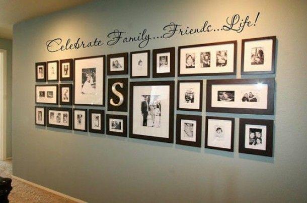 Interieurideeën   Mooie manier om foto's op te hangen Door vlijtigehommel