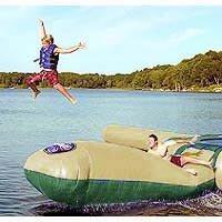 $879.99 Water Trampoline Launch - RAVE Sports Aqua Launch Northwoods Edition Water Trampoline Attachment.See More Inflatable Water Trampolines at http://www.zbuys.com/level.php?node=3996=inflatable-water-trampolines