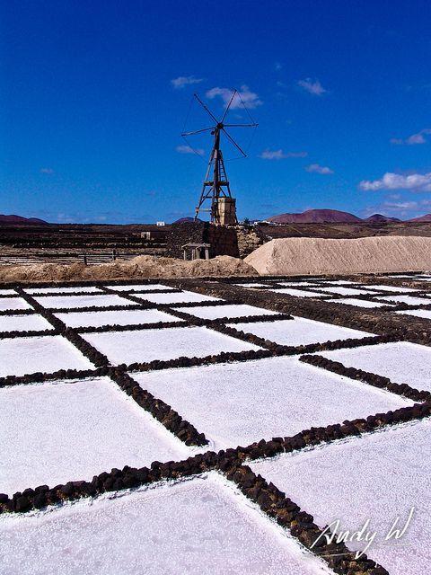 Sal en Janubio    Lanzarote  Canarias  Spain