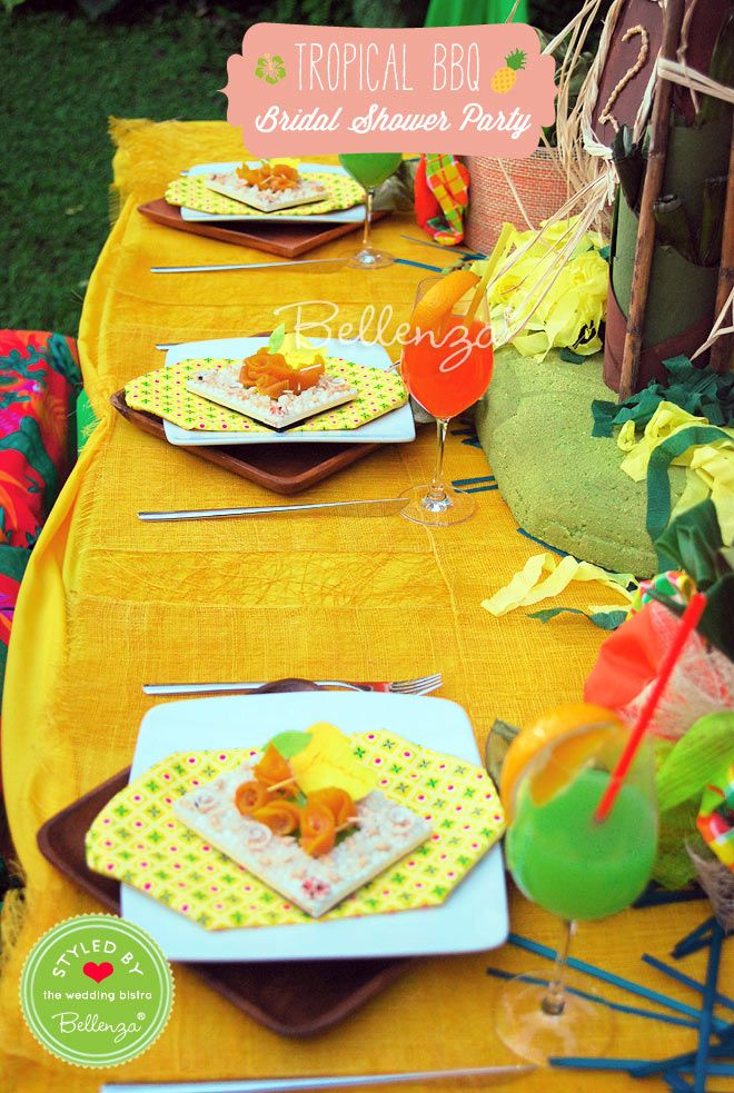How to Host a Tropical BBQ Couples