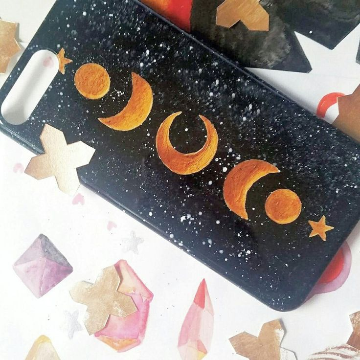 Speckled Celestial Smartphone Case ☪️available in rose gold, gold and siler stars and moon ⭐🌙 (Smartphone case for iPhone + Android/Samsung)