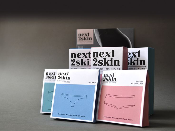 Next2Skin - brand development, creative development and packaging from @Press Play - the classiest 'substitute underwear' on the market