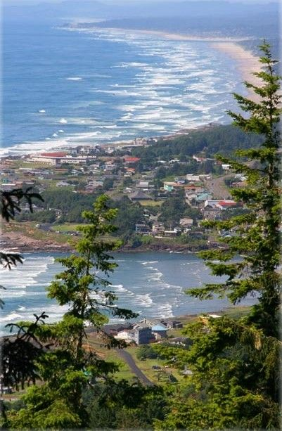 Yachats from Cape Perpetua on the central Oregon coast • Mick's Photography on Yachats Area Chamber of Commerce