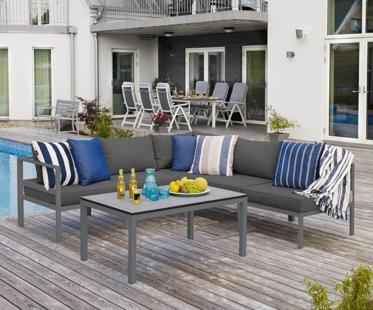Leone soffbord grått 120×70 cm