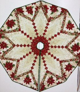French Braid Tree Skirt, via Flickr.  I've seen this in person, and it's simply gorgeous.  If you live in Fla., Stitchcraft, the quilting store in Boca has a class.