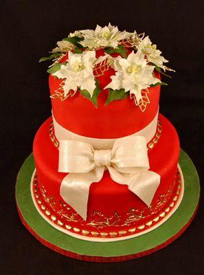 Beautiful Christmas cake! Christmas Pinterest