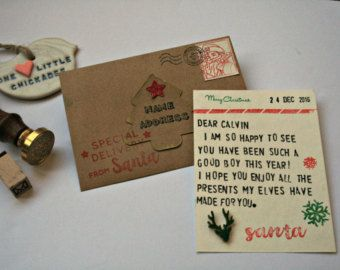 Mini Letter from Santa, Miniature Letters, Tiny Letters, Father Chistmas Letters £6.50