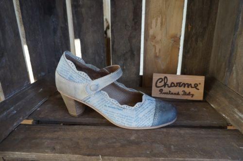 Charme-Damen-Pumps-Leder-580-italienische-Schuhe-Neu-Combinatione-4