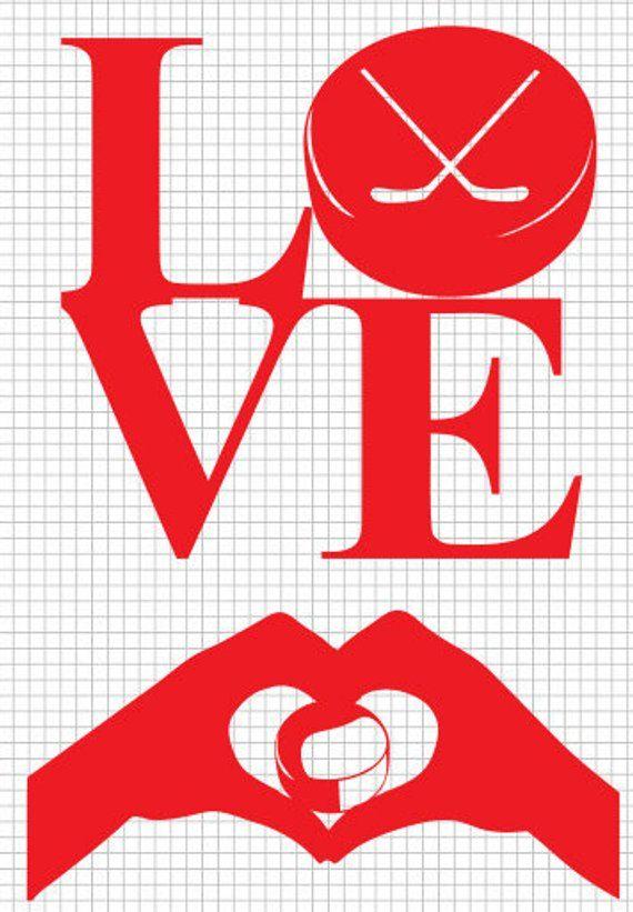 Download Hockey LOVE, svg, svg file, Hockey svg, files for cricut ...