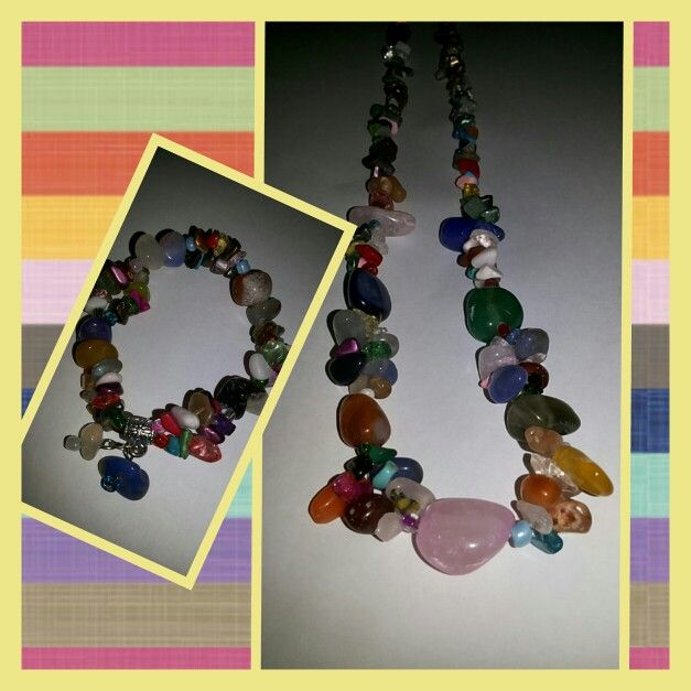 Kalung batu warna warni 55rb Free ongkir Jatim