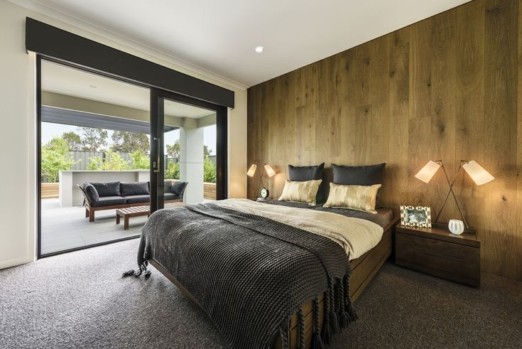 Layering natural materials and finishes such as warm timbers, will help you create the perfect luxury, resort style bedroom.