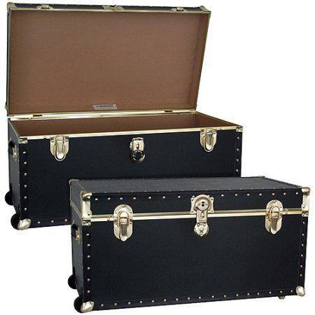 "Mercury Luggage Seward Trunk Wheeled Storage Footlocker, 31"" Classic"