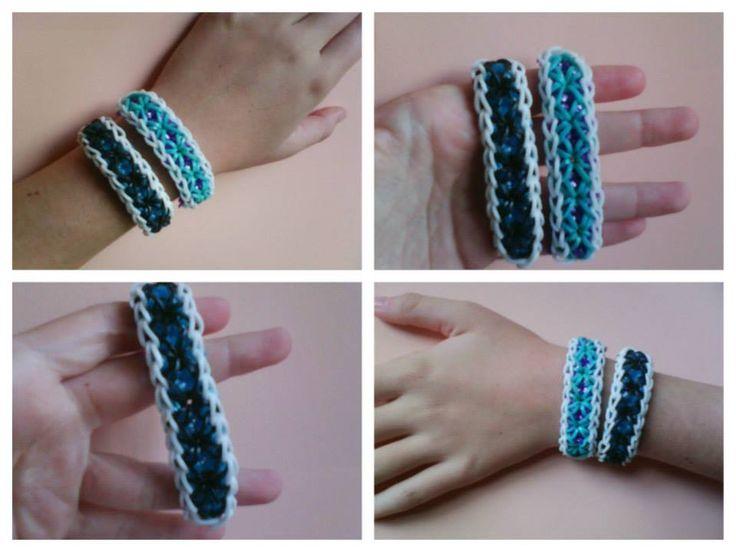 rainbow loom x bracelet