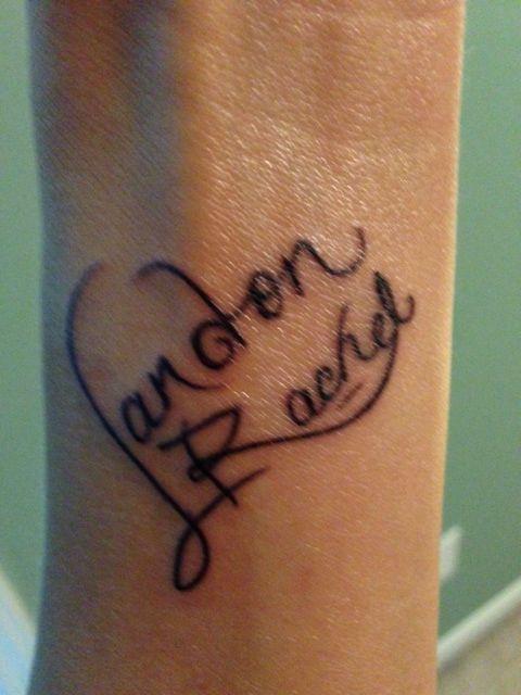 Wrist Tattoo Of My Kids Names