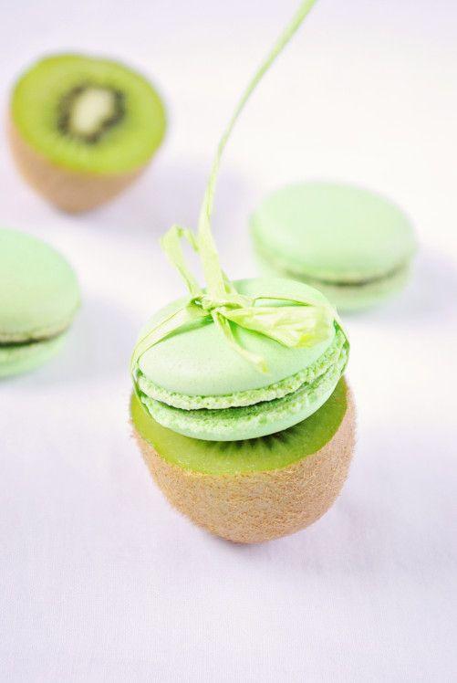 Kiwi Macarons | confessions d'une gourmande