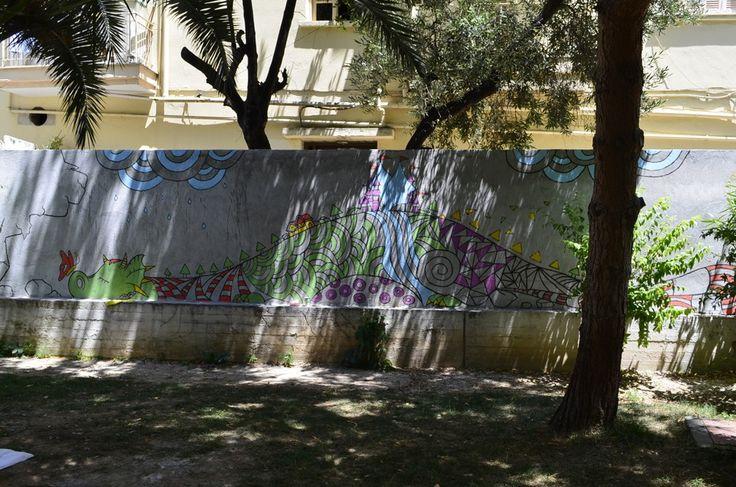 Εικαστική παρέμβαση στην αυλή του 21ου & 85ου Νηπιαγωγείου από τους Γραφίστες του ΑΚΤΟ Θεσσαλονίκης « Επίσημη ιστοσελίδα του κολεγίου ΑΚΤΟ