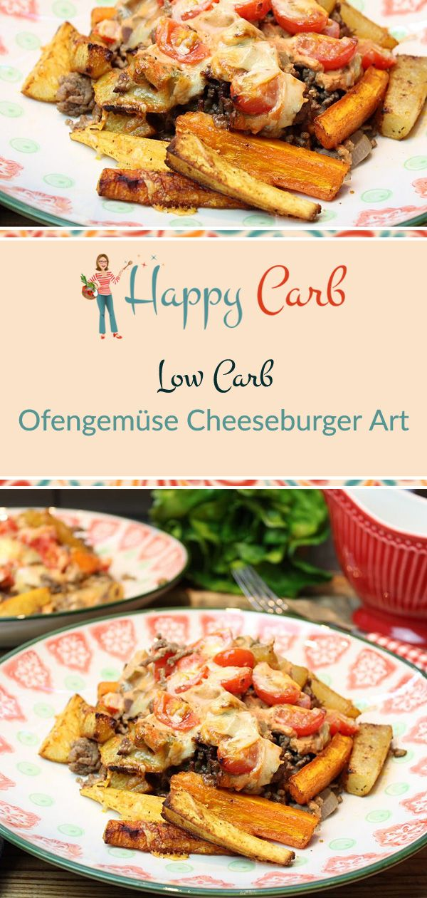 Ofengemüse Cheeseburger Art