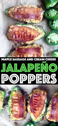 Maple Sausage Cream Cheese Jalapeno Poppers with bacon. Now that's hot!