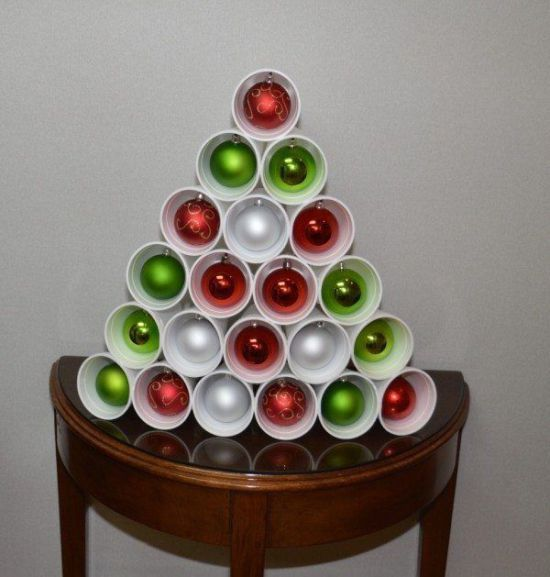 Decoración navideña con vasos desechables - Dale Detalles