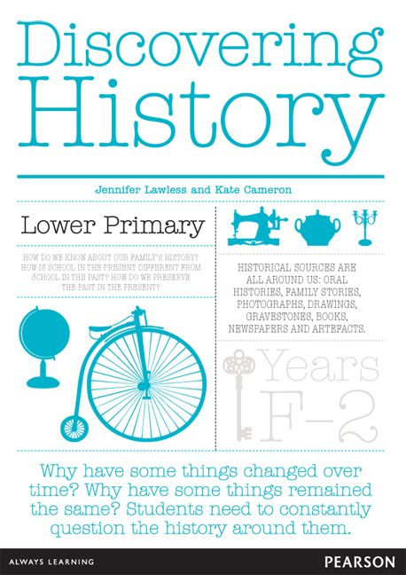 Discovering History Lower Primary Teacher Resource for Foundation - Year 2. Fantastic guide for teaching Australian Curriculum: History. Includes 70 laminated picture/activity cards.