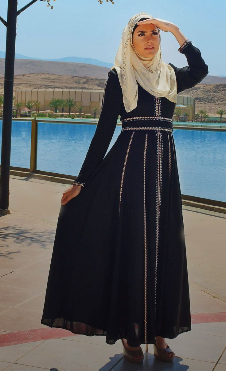 - Abaya Made In Jordan - Abaya made of polyester - Saddle Brown - Front opened fastened with long zippers - Decorated with Moroccan style embroidery - Moroccan embroidery usually made of colors silk f