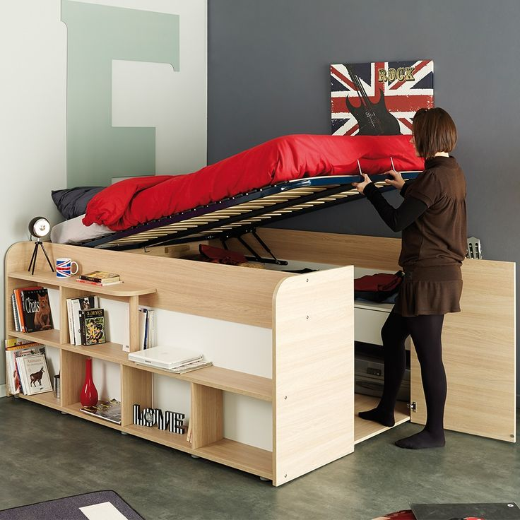PARISOT SPACE UP DOUBLE BED with Under Bed Storage   Storage Bed   Bed with Storage Underneath   Ottoman Bed   Storage Hacks   Storage Ideas for Small Bedrooms