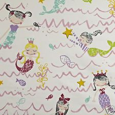 PRESTIGIOUS TEXTILES 100% COTTON CURTAIN FABRIC/CRAFT MERMAID Pretty Pink p/m