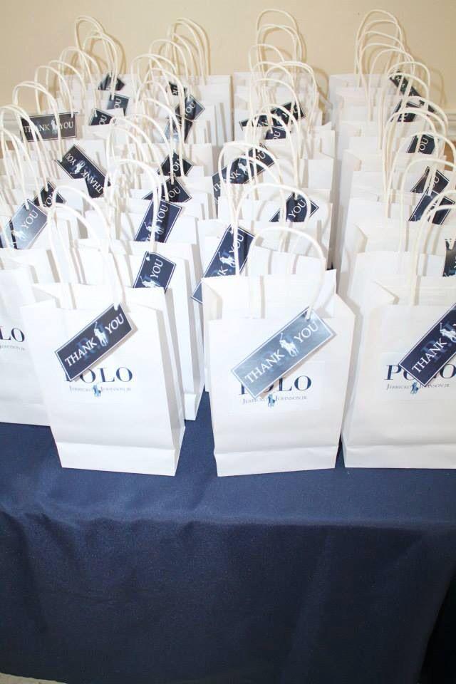 Polo party favor bags