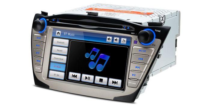 "7"" HD Pekskärm bilstereo, DVD, GPS, OBD2 - Hyundai IX35"