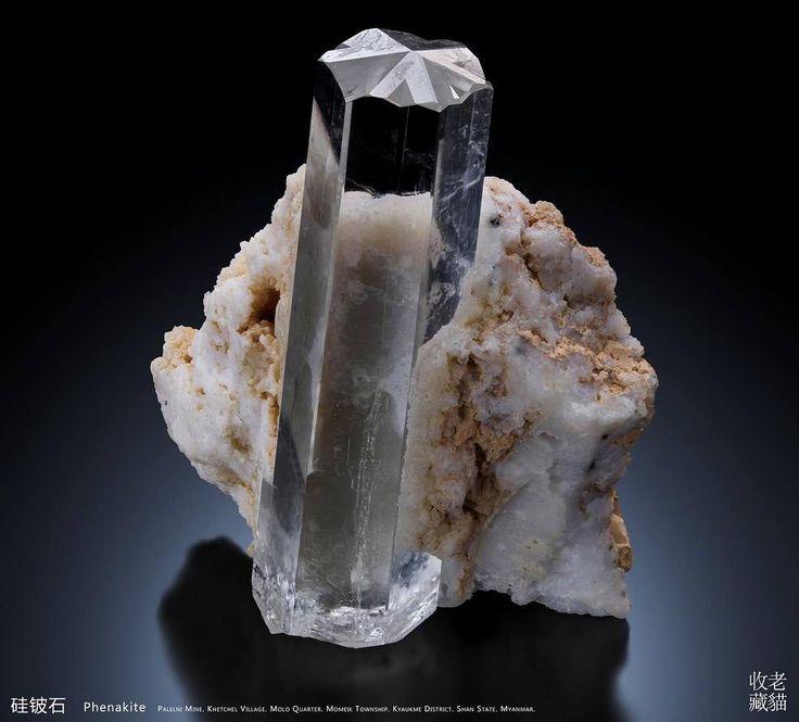 Phenakite crystal-twin -- Palelni mine, Kyaukme District, Shan State, Myanmar