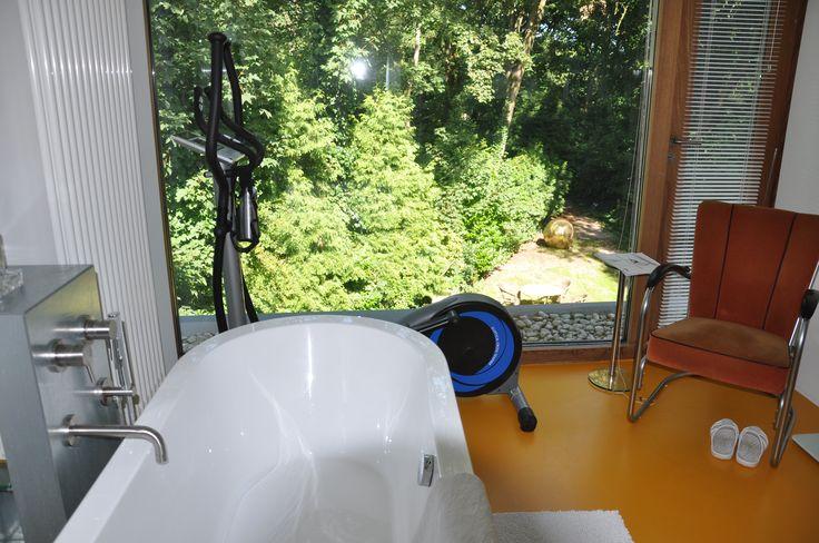 bathroom en suite (with a view)