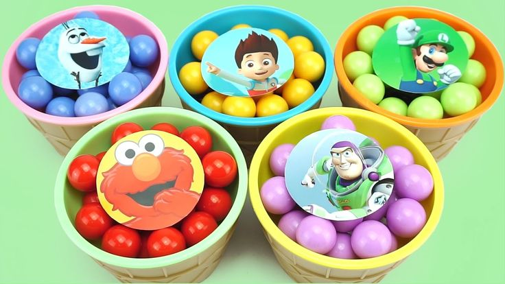 Сups Stacking Candy Ice Cream Toy Paw Patrol Frozen Olaf Mario Elmo Toy ...