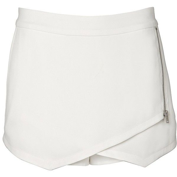 Witchery Front Wrap Skort (120 BRL) ❤ liked on Polyvore featuring skirts, mini skirts, shorts, bottoms, skort, ivory, asymmetrical skirt, asymmetrical wrap skirt, winter white skirt and asymmetrical skort