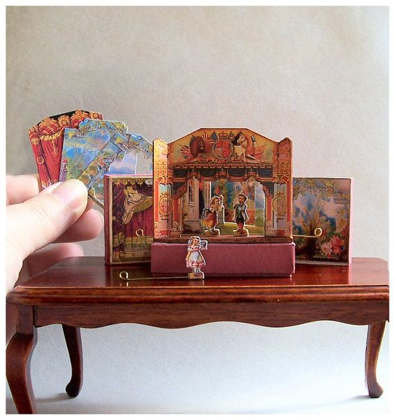 Love this! -- Dolls' House Miniature  Wooden Toy Theatre by OpenHouseMiniatures, $ 61.50