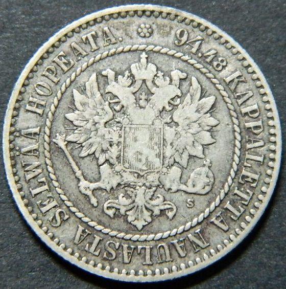 1864 Finlandia 1 markka