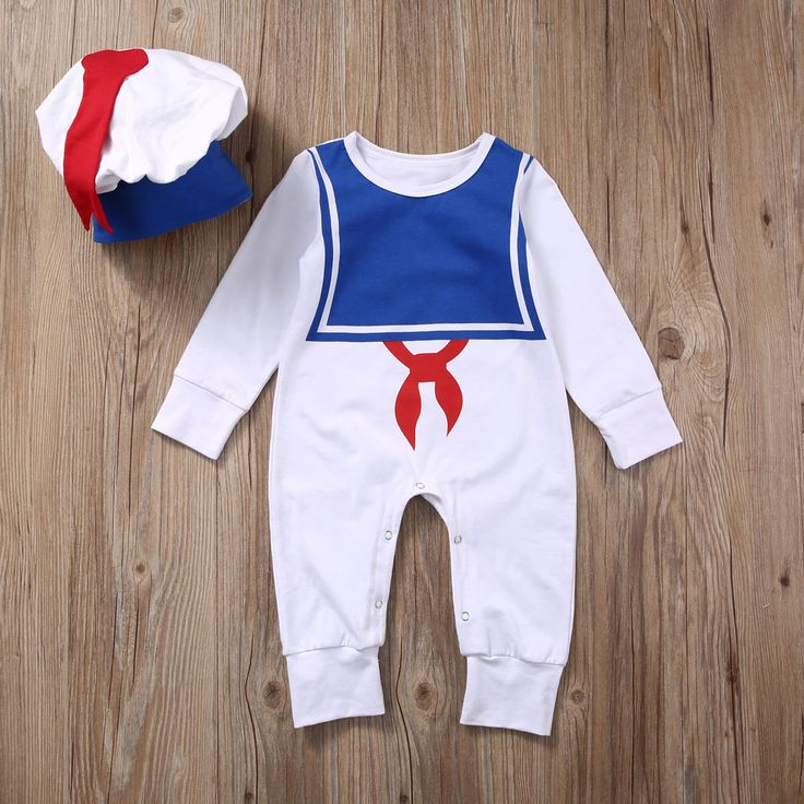 >> Click to Buy << 2pcs Baby Set Autumn Warm Cotton Baby Boys Girl Clothes Long Sleeve Cute Sailor Baby Romper Jumpsuit+Hat Baby Outfits Clothes #Affiliate